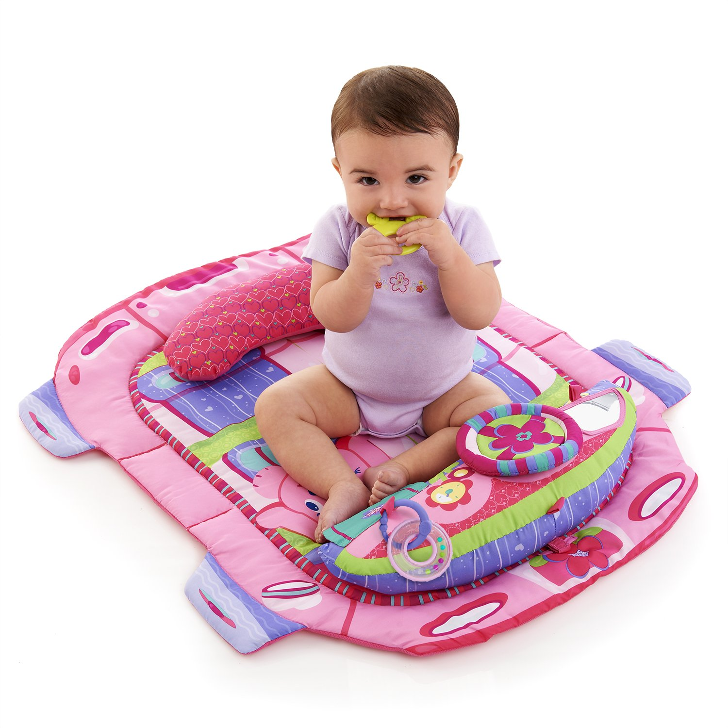 Amazon Bright Starts Tummy Cruiser Prop and Play Mat Pretty