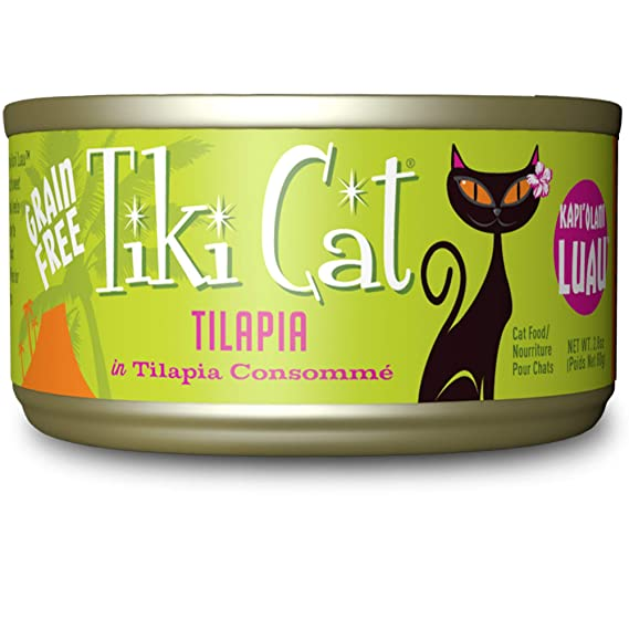 Tiki Cat KapiOlani Luau Tilapia Grain Free Cat Food 2.8oz 12 Count: Amazon.es: Productos para mascotas