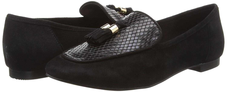 Unbekannt Damen Farley Geschlossene Ballerinas schwarz (schwarz Suede/ schwarz schwarz schwarz Snake 06803) 15646e