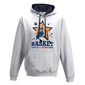 Sudadera con capucha Bico Basket Vintage Parodia Stephen All Star Curry 2 L: Amazon.es: Deportes y aire libre