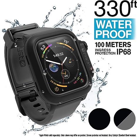 Funda Impermeable Apple Watch Serie 4 44 mm con Banda de Reloj de Silicona Suave de