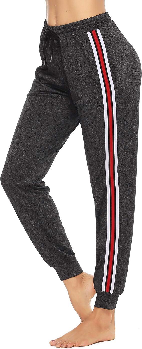 Yoga Fitness Abollria Pantalones Deportivos Para Mujer Casual Pantalon Chandal Largo Con Cordon Suelto Pantalon De Pijama Con Bolsil Y Cordon Pants De Entrenamiento Para Jogging Danza Correr Mujer Ropa Deportiva