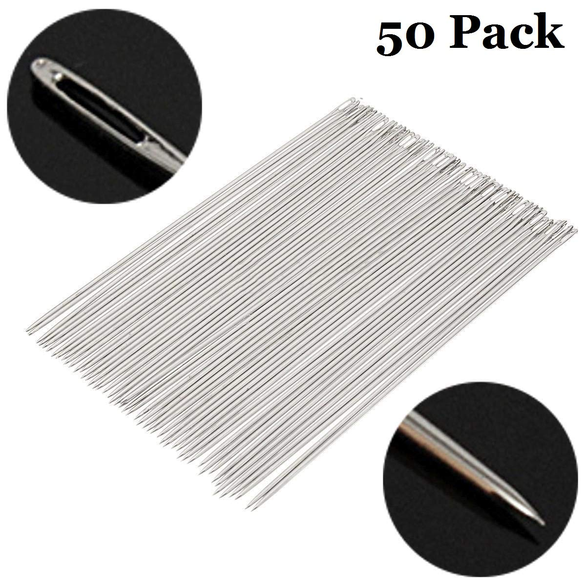 Wholesale OurHommie 50 Pack 6 Inch Long Upholsterer Needles Large Eye Needle for Sewing Act Crafts 150mm Long x 1.6mm Thickness