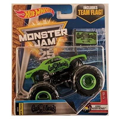 Hot Wheels Monster Jam 1:64 Gas Monkey Garage with Team Flag GMG tv show 2020: Toys & Games