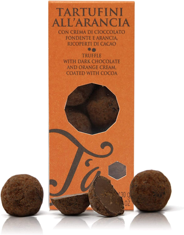 Ta Milano Trufas de Chocolate Negro con Naranja Cubiertas de ...