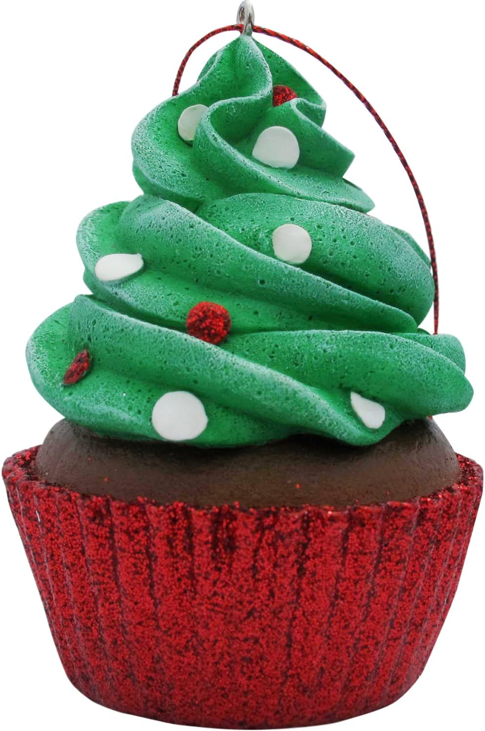 JILLSON & ROBERTS Green Confetti Cupcake Christmas Tree Ornament