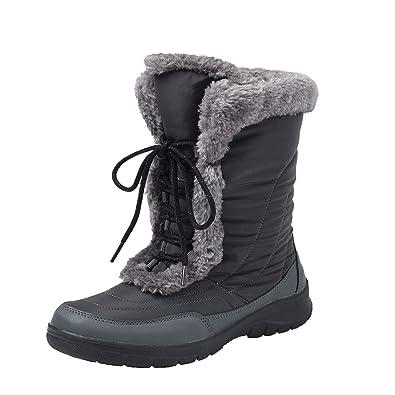 Bottes Anti Doublure De H7629 Boots Mollet Femme Ski Chaude Neige Shenji Fourrées Hiver Après Mi Dérapants LjzSMVqUpG