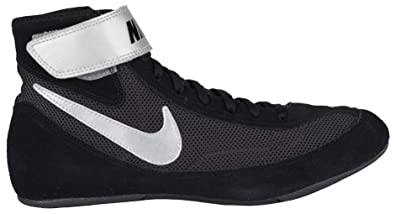 new style c4e01 40315 NIKE Men s Speed Sweep VII Wrestling Shoes (Black White Black, 6.5 M