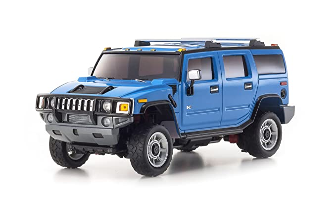 amazon com kyosho mini z overland sports rc hummer h2 truck blue