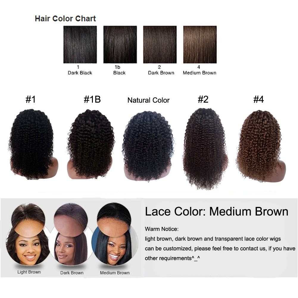 Amazon Royal First Glueless Kinky Curly Lace Front Wig