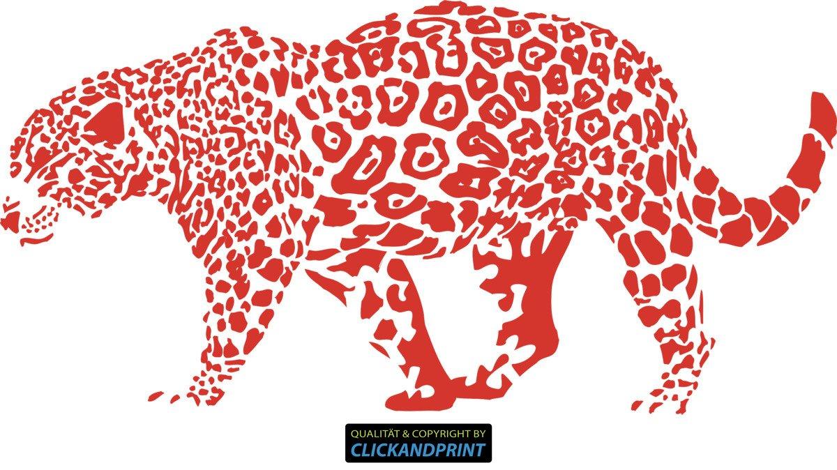 CLICKANDPRINT Aufkleber » Leopard, 150x74,4cm, 150x74,4cm, 150x74,4cm, Türkis • Wandtattoo   Wandaufkleber   Wandsticker   Wanddeko   Vinyl B073X7N7YC Wandtattoos & Wandbilder 095bde