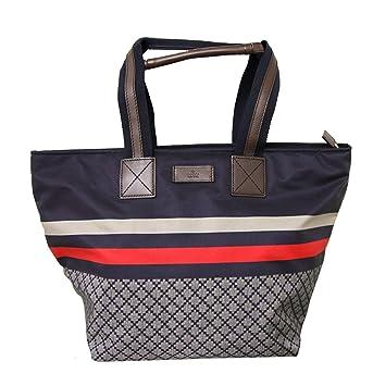 85f6997c2e09 Amazon.com | Gucci Unisex Blue Medium Diamante Tote Travel Bag ...