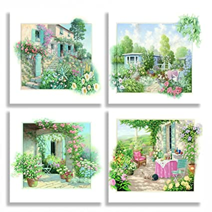 Gentil Sweety Decor Giclee 3D Touch Garden Scene Photo Prints Oil Paintings On  Canvas Wall Art For