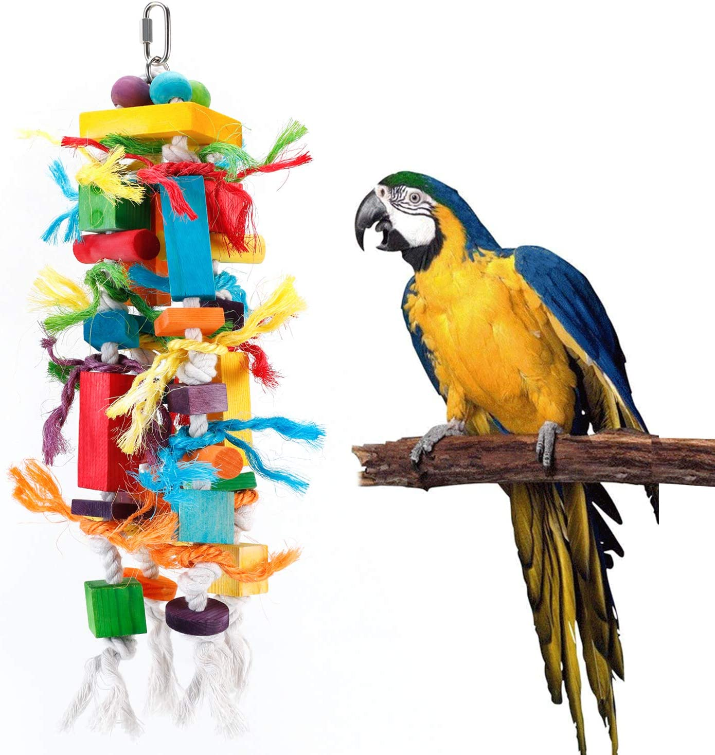 Bvanki Parrot Toy, Colurful Rainbow Bridge, Chewing,Hanging Toy, Parrot Nest Suitable for A Wide Variety of Large and Small Parrots and Birds.