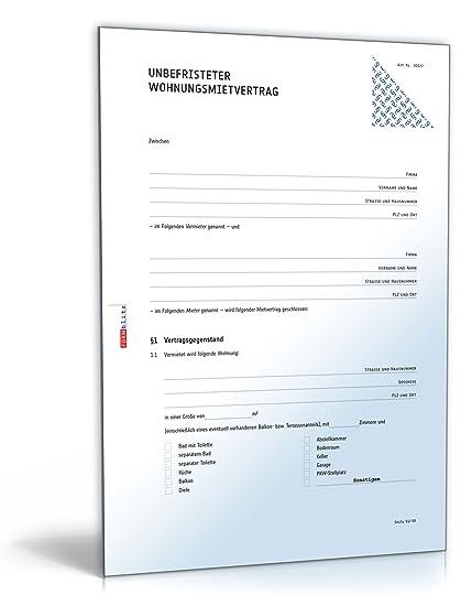 Wohnungsmietvertrag Doc Standardmietvertrag Für Eine Wohnung