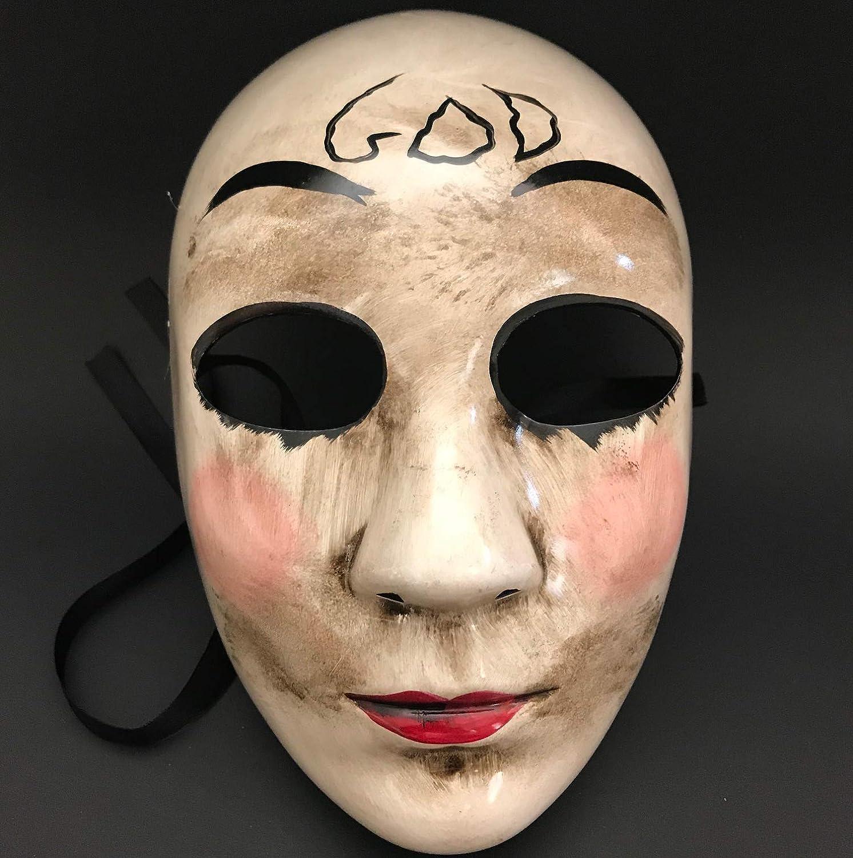 La máscara de purga Anarchy purga Cruz máscara horror purga Hombres enmascarados Halloween disfraz fiesta: Amazon.es: Hogar