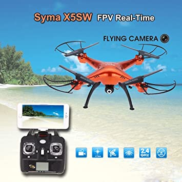 Syma X5Sw 2Mp Hd Wifi Camera Fpv Quadcopter Drone Upgraded Version 500 Mah Battery With