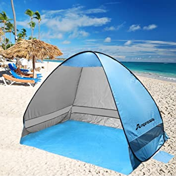 Anpress Outdoor Automatic Pop up Beach Tent Portable Cabana Anti UV 50+ Canopy Sun Shade & Amazon.com: Anpress Outdoor Automatic Pop up Beach Tent Portable ...