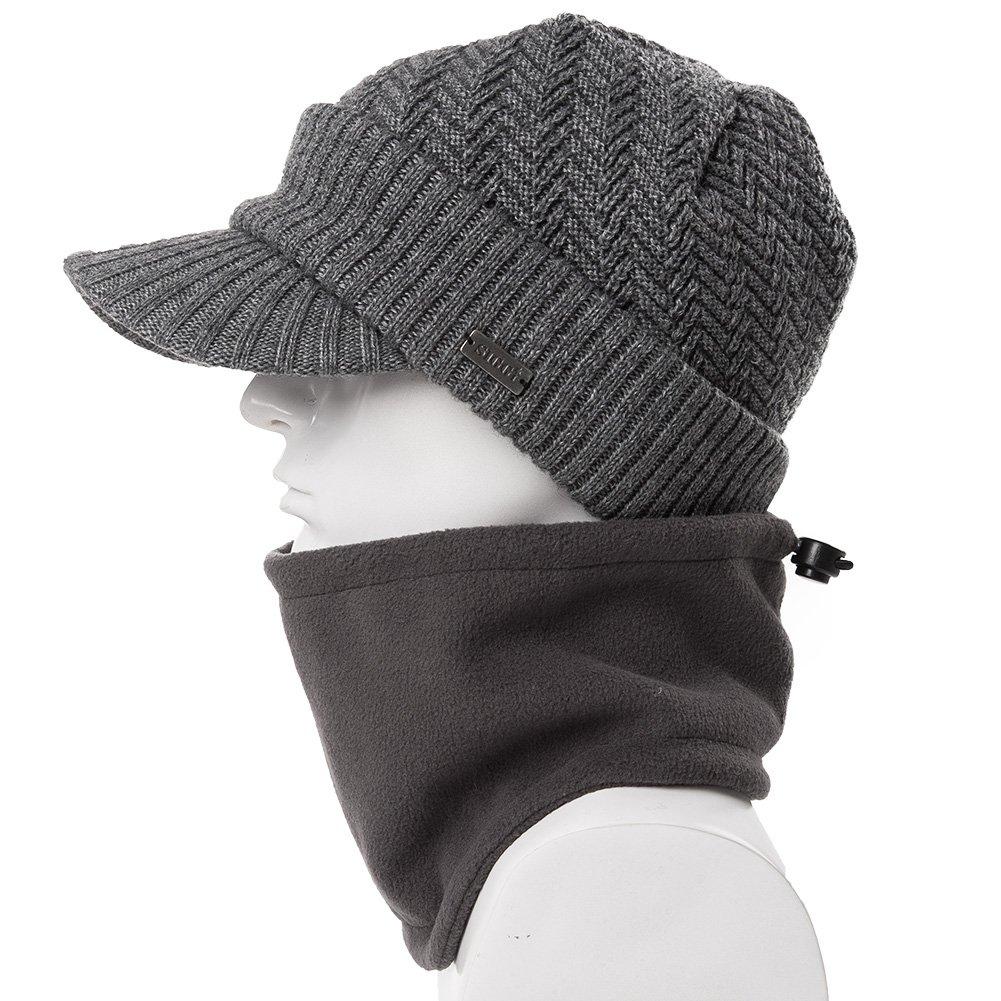siggi Lana Cable Knit Newsboy Bill Gorro para Hombre Invierno Jeep Cap  Visera Beanie CM69311- fead7c75a81