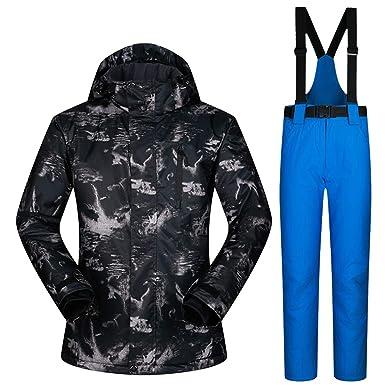 Amazon.com: Traje de esquí para hombre de invierno, cálido y ...