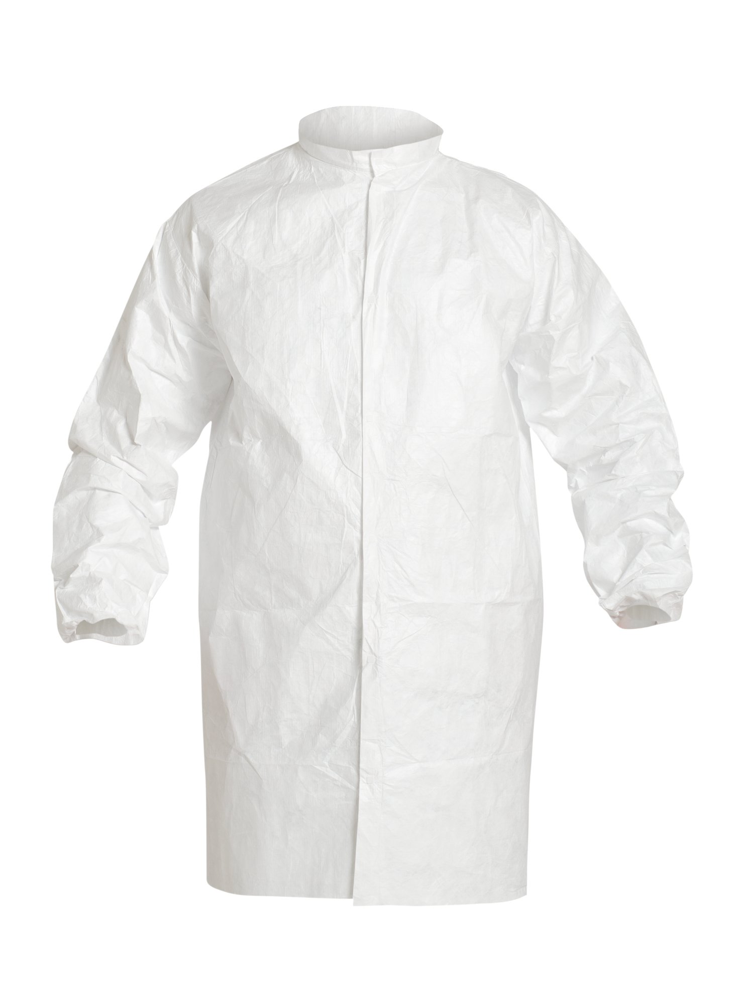 DuPont Tyvek IsoClean IC263S Snap Front Frock, White, 2X-Large (Pack of 30)