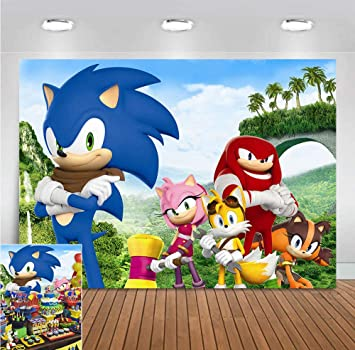 Amazon Com Cartoon Hedgehog Palm Mountain Scene Photo Background Baby Shower Supplies Sonic Heroes Photography Backdrop For Children Birthday Party Banner Decorations Vinyl 5x3ft Photo Booth Camera Photo