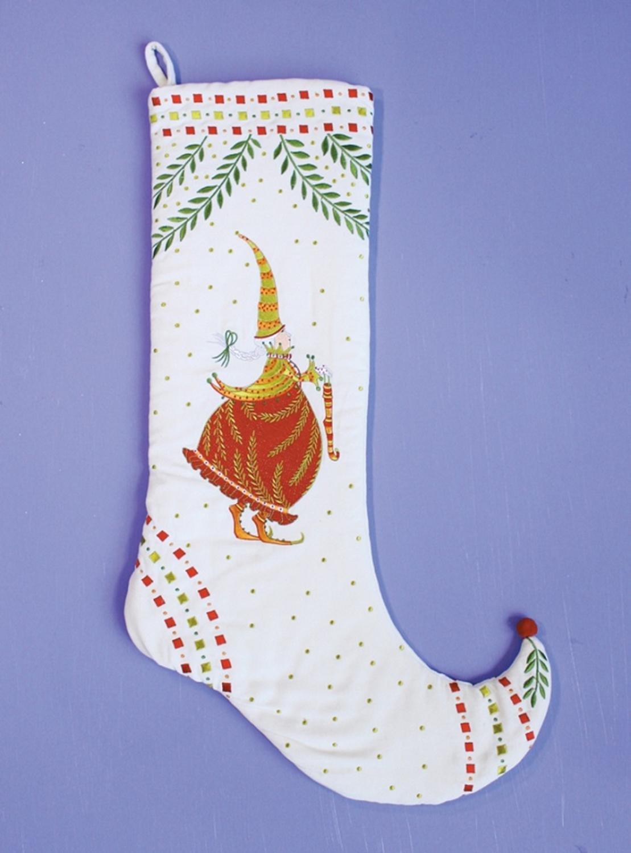 29'' Patience Brewster Krinkles Mrs Santa Claus Decorative Christmas Stocking