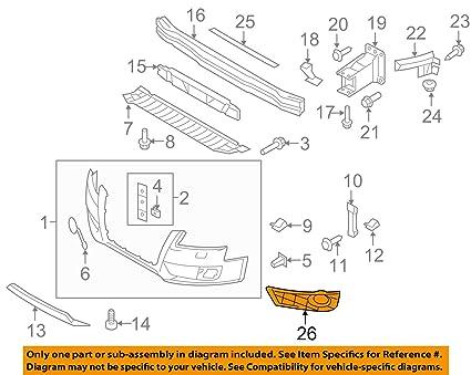 Amazon com: Genuine Front Bumper Fog Light Grill + Chrome Ring Right