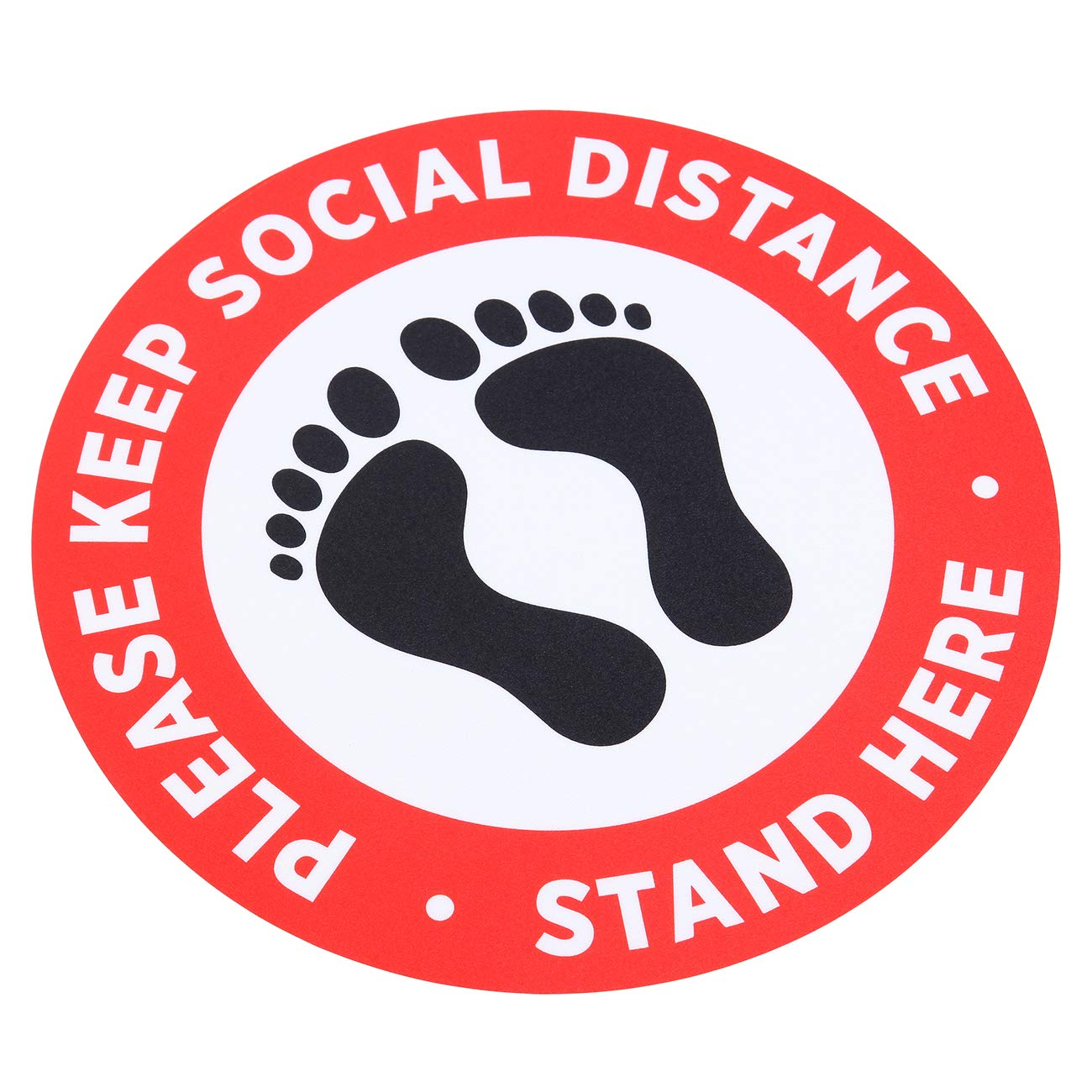 Anti-Slip Ycsst 10 Pack 12 inch Social Distancing Floor Decals- Safety Floor Sign Marker Commercial Grade Maintain 6 Foot Distance 12 Round Made for Walking on. Orange