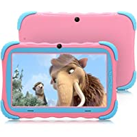 7 Pulgadas Android 7.1 Tablet para niños IPS HD Screen 1GB/16GB Babypad Edition PC con WiFi y Cámara y Juegos Google Play Store Bluetooth Compatible Kids Proof Case GMS Certified (Rosa)