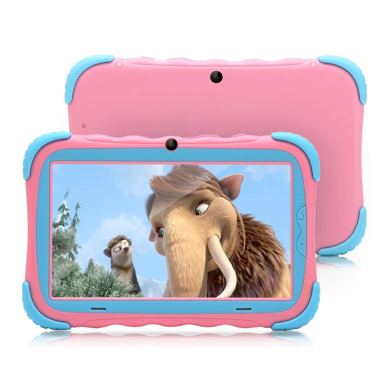Tablet da 7 Pollici Google Android 8.1 Quad Core 1024x600 Dual Camera Wi-Fi Bluetooth 1GB/8GB Play Store Netfilix Skype 3D Game GMS Supportato con Certificazione di un Anno di Garanzia (Rosa) ZONKO