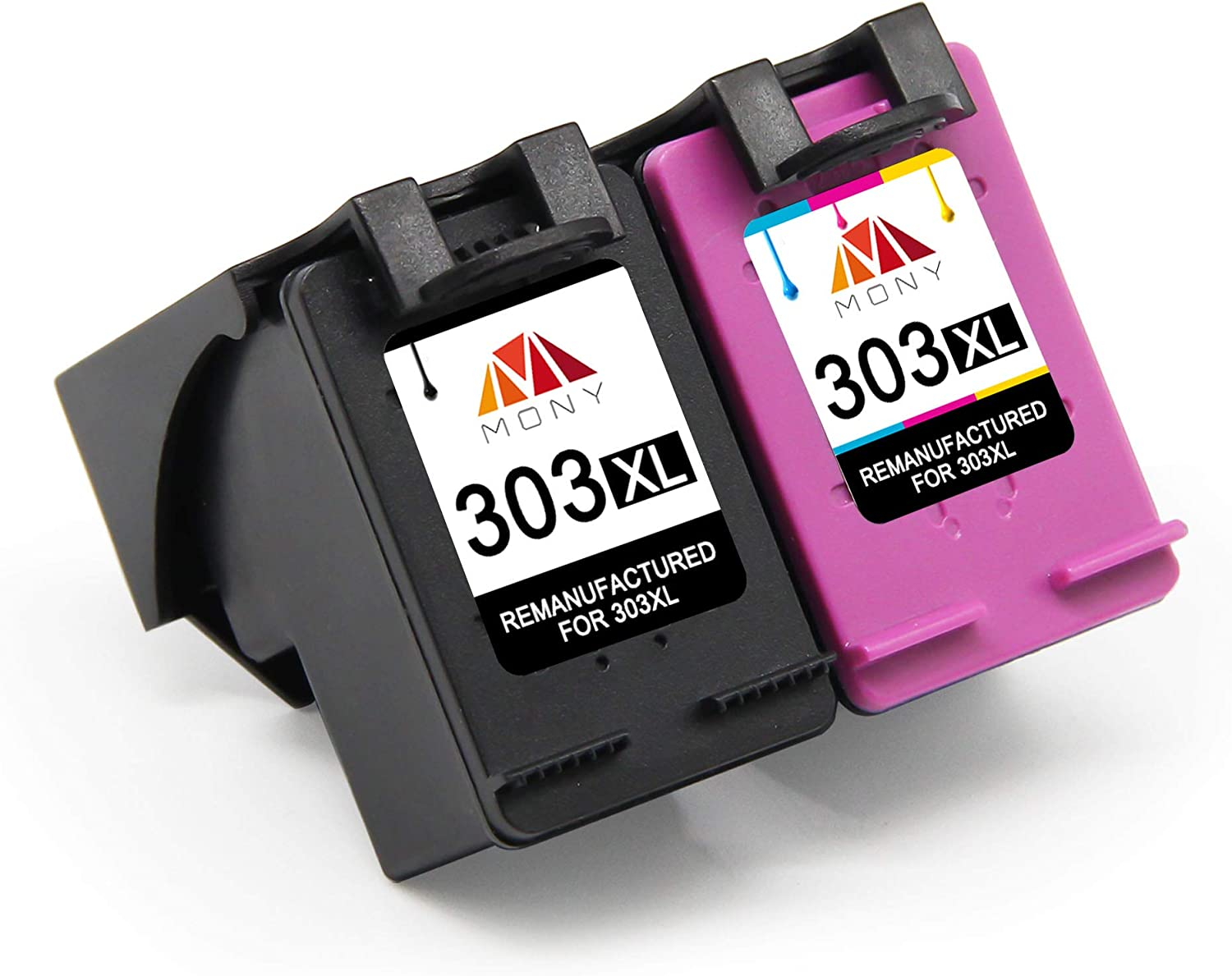 Mony Remanufactured Ink Cartridge For Hp 303 Xl 303xl Black And Tri Colour For Hp Tango Tangox Envy Photo 6230 7134 6220 7830 7130 6232 6234 Printers Pack Of 2 Bürobedarf Schreibwaren