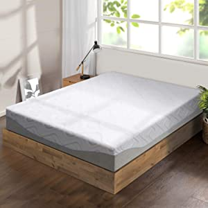 "Best Price Mattress 11"" Gel Infused Memory Foam Mattress, Full, White"