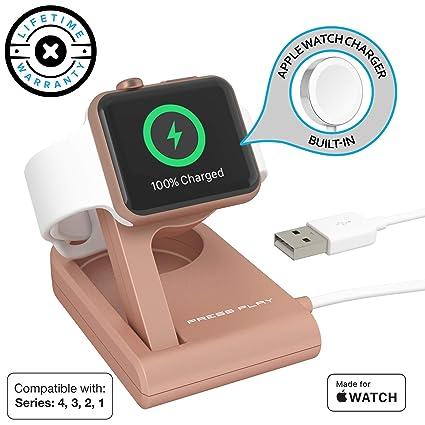 Amazon.com: Cargador de Apple Watch, Press Play [certificado ...