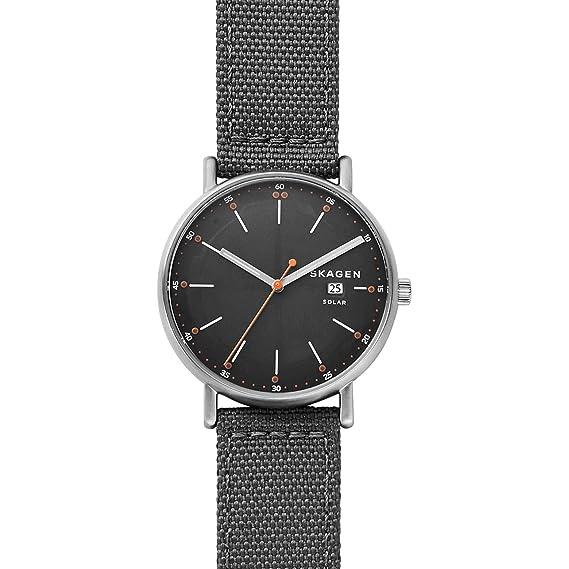 Skagen Reloj Analogico para Hombre de Cuarzo con Correa en Nailon SKW6452: Amazon.es: Relojes