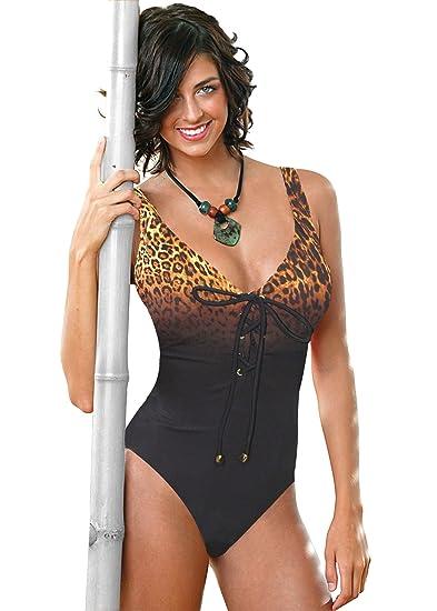 e64122ecc062f Carol Wior Swimsuit 124715L with Control Safari Ombre Leopard Print ...