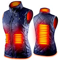 Women's Heated Vest with 3 Heating Levels, 4 Heating Zones,Neck Heating Jacket Washable
