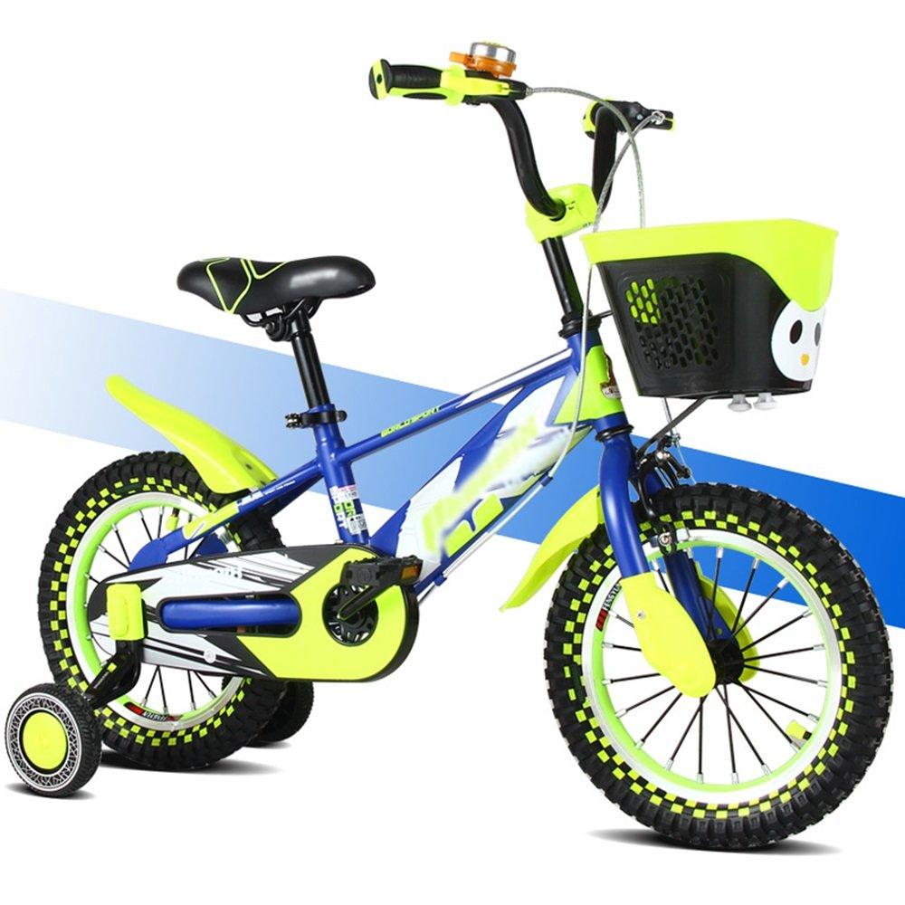 HAIZHEN マウンテンバイク 子供の自転車のサイズオプション12インチ14インチ16インチ18インチマルチカラーの選択 新生児 B07CCHRMRM 14 inches|青 青 14 inches