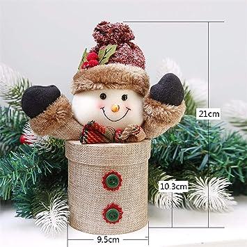 SAOGA Navidad Grandes Calcetines de Navidad Viejo Hombre Muñeco de Nieve Bolsa de Regalo Niño Paz
