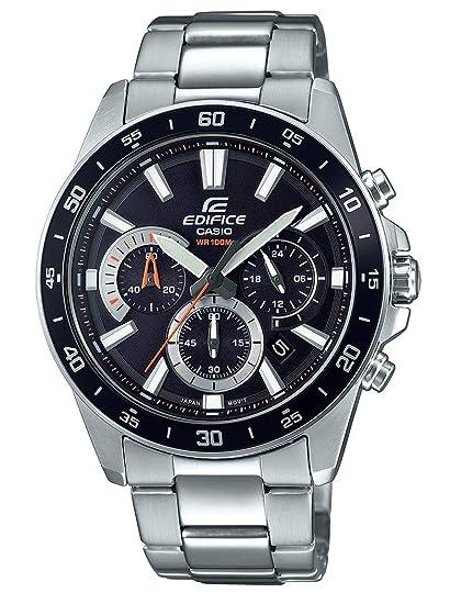 1f746de1d366 Casio Reloj Analógico para Hombre de Cuarzo con Correa en Acero Inoxidable  EFV-570D-1AVUEF  Amazon.es  Relojes