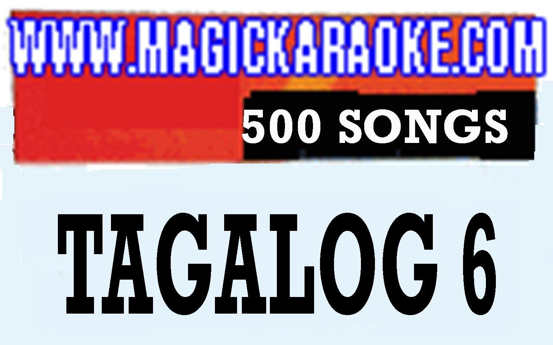 MAGIC SING''Tagalog-6'' Song Chip - 500 Tagalog & English Songs WITH SONG LIST