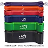 Fit Simplify Pull Up Assist Band - Stretching Resistance Band - Mobility and Powerlifting Bands - Exercise Pull Up Band - SINGLE BAND with eBook and Online Workout Videos