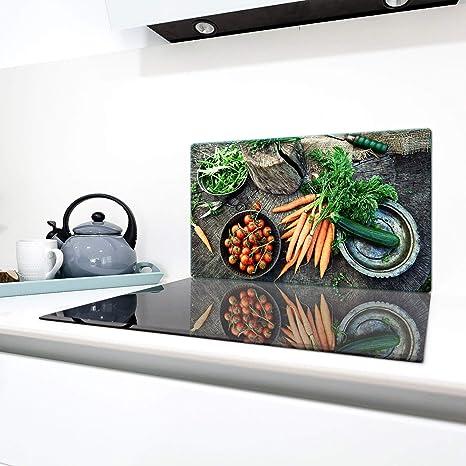 QTA - Cubierta de vitrocerámica, 1 pieza, 90 x 52 cm, placas ...