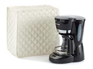 Covermates – Coffee Maker Cover – 11W x 9D x 15H – Diamond Collection – 2 YR Warranty – Year Around Protection - Cream