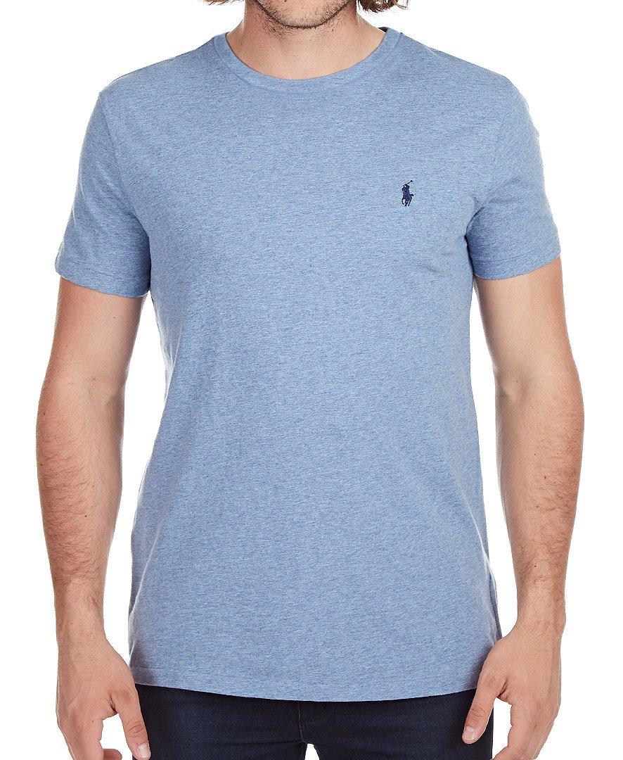 c55dc1cf9 Galleon - Polo Ralph Lauren Men's Classic Fit Solid Crewneck T-Shirt  (Large, Ocean Heather)