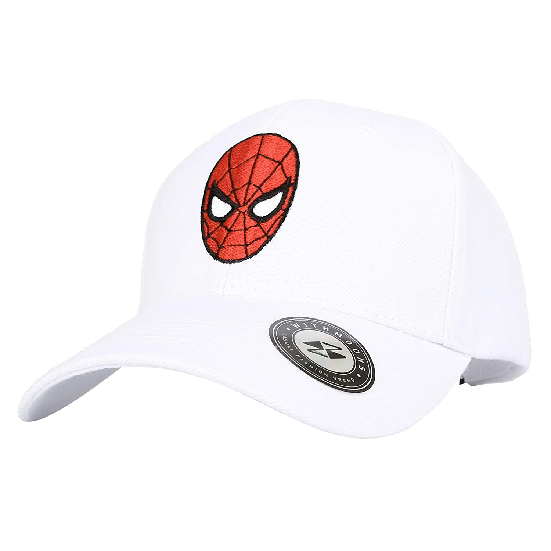 WITHMOONS Marvel Avengers Baseball Cap Spiderman Snapback Hat HL11071 (Black) at Amazon Mens Clothing store:
