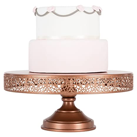 Amazon Com Victoria Collection Rose Gold Inch Cake Stand