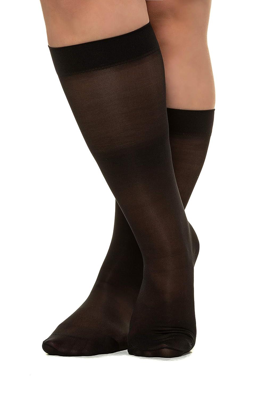 Ulla Popken Womens Plus Size Knee High Flight Socks 644853