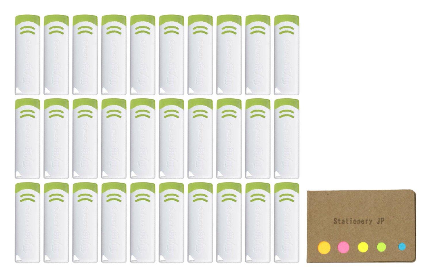 Pilot FriXion Eraser New Model, White Color, 30-pack, Sticky Notes Value Set by Stationery JP (Image #1)