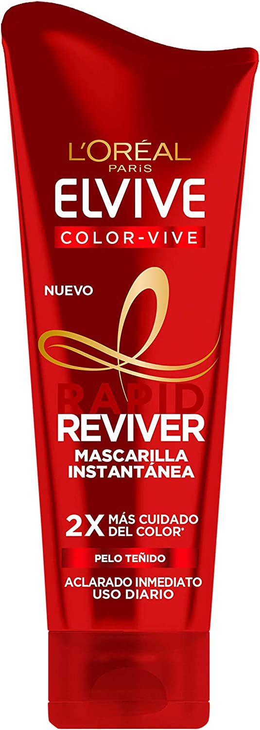 L'Oréal Paris Elvive Color Vive Rapid Reviver, Mascarilla Instantánea para Pelo Teñido, 180 ml